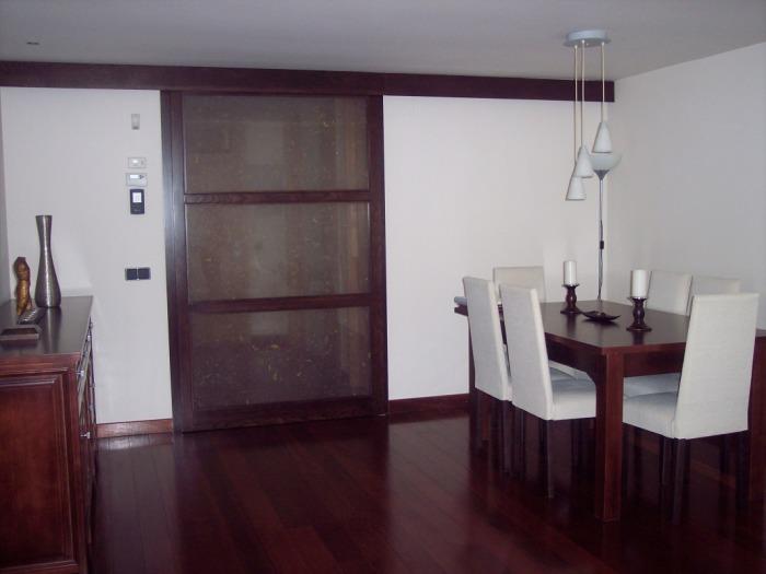 Carpinter a de madera compas obras - Puertas de cristal correderas para cocinas ...